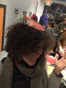 Making fancy paper hats!